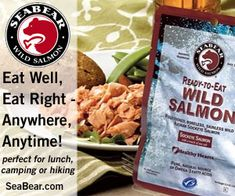 SeaBear Ready to Eat Wild Sockeye Salmon - Made in USA (Washington state), needs no refrigeration, ethical and delicious! Greek Spices, Philly Cheese Steak Sliders, Crab Chowder, Chocolate Peanut Butter Cookies, Chocolate Filling, Marinated Lamb, Slider Sandwiches, Rum Balls, Sockeye Salmon