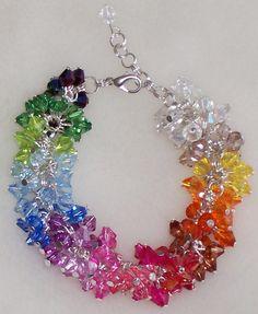 Wire Jewelry Designs, Resin Jewelry, Crystal Jewelry, Crystal Beads, Jewelry Crafts, Jewelry Art, Beaded Jewelry, Beaded Bracelet Patterns, Beaded Bracelets
