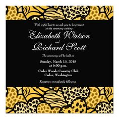 Yellow Wild hearts wedding invitation #yellow #weddinginvitations #weddings #wedding #invitations #savethedate