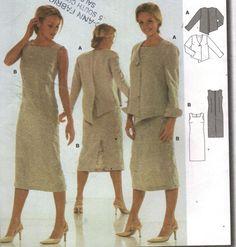 Burda 8511 Pattern, Misses Dress & Jacket, Sizes 6 to 16 #Burda8511