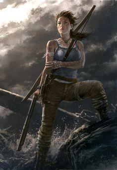 Tomb Raider Reborn Tomb raiders Raiders and Lara croft Lara Croft Cosplay, Andy Park, Tomb Raider Lara Croft, Japanese Video Games, Fanart, Park Art, Game Character, Character Design, Character Ideas
