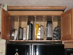 Pan Storage above Fridge