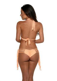 reversible designer bikini set - This gorgeous Meg Liz Swimwear Aloha reversible bikini set is a sight for sore eyes. #reversiblebikini