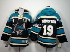 NHL Kids Hoodies Jersey San Jose Sharks #19 Thornton blue Jersey