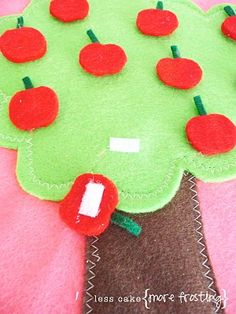 Hi-Ho Cherry-O felt game for when you're on the go. (Busy Bag)