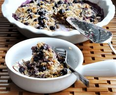Blueberry Banana Coconut Oatmeal Bake! Made with Let's Do Organic Shredded Coconut!