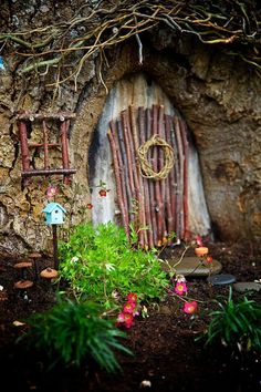 Winner : 2014 Fairy Garden Contest on The Magic Onions Blog : http://www.theMagicOnion... - DIY Fairy Gardens