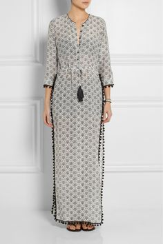 Talitha | Jaya silk and cotton-blend voile maxi dress | NET-A-PORTER.COM