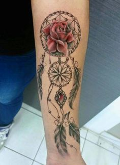 Wonderful dreamcatcher tattoo