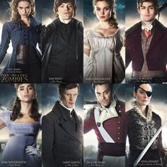 New Pride and Prejudice and Zombies Character Posters featuring Elizabeth Bennet & Mr. Darcy