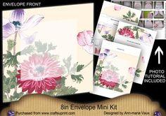 Anemone2 Large Blooms 8in Envelope Mini Kit on Craftsuprint - Add To Basket!