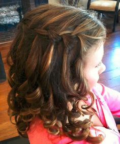 Super Cute Waterfall Braided Hairstyles 2018 for Little Girls to Look Most Pretty