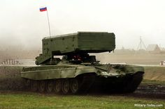 TOS-1A - A MLRS system that fires FAE & incendiary rockets - sometimes called a heavy flamethrower system. Totally a supervillain vehicle.
