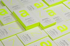 A Stunning Collection Of 50 Letterpress Business Cards – Design School Letterpress Business Cards, Cool Business Cards, Business Card Logo, Business Card Design, Name Card Design, Bussiness Card, Web Design, Flyer, Grafik Design