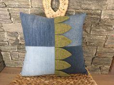 Denim Pillow , Decorative Toss Pillow , Denim Decorative Throw Pillow , Dragon Pillow , Check Pillow , Nursery Pillow , Dragon Nursery Decor by SecondBirthday on Etsy