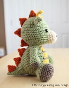 Crocheting: Amigurumi Pattern - Spike the Dragon