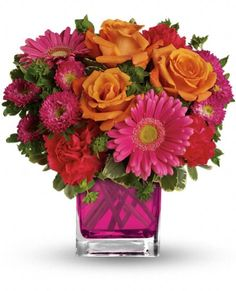 Teleflora's Turn Up The Pink Bouquet Flowers