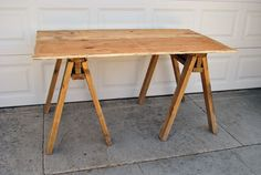 Charles & Hudson made this great Sawhorse Table with a #Dremel Ultra-Saw. What have you made with yours?