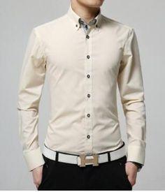 Men Business Shirt 2017 New Main Push Fashion Men's Shirts Long-Sleeved Shirt Men's Casual Solid Color Dress Shirts Slim Blouse