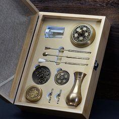 High Quality Set Copper Incense Burner Fine Censer Tool Box Gifts And Crafts Home Decorations Incense Holder