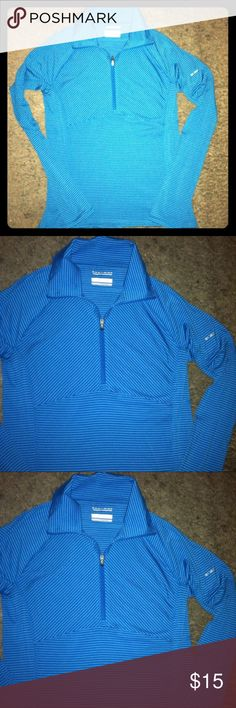 💙Columbia Long Sleeve 3/4 Zip top💙 Excellent cond. Blue Columbia top sz Medium. Never been wore. Made of stretchy material. This one is already boxed up & ready 💙 Columbia Tops Tees - Long Sleeve