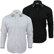7476783722f610 Mens Formal Shirt by Xact With Collar   Cuff Trim