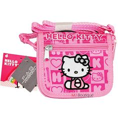 Sanrio Hello Kitty Wallet Purse Bag Cross Body Shoulder Kid Girl Gift (Pink)