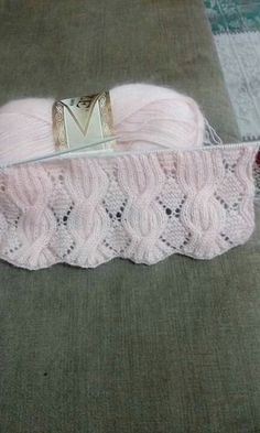 Knit Vest Pattern, Knitting Stiches, Crochet Square Patterns, Sweater Knitting Patterns, Knitting Charts, Easy Knitting, Knitting Designs, Hand Knit Scarf, Knit Mittens