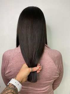 long shiny hair, dark hair, sharp cut Shiny Hair, Dark Hair, Lvl Lashes, Keratin Complex, Hair And Beauty Salon, Best Brand, Stylists, Glossy Hair, Brighter Hair
