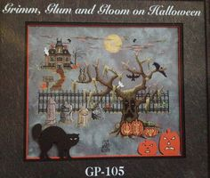 Glendon Place Cross Stitch Pattern Grim Glum Gloom on Halloween Cheryl Granada | eBay