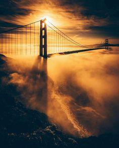 Golden Gate Bridge by photo9raphing #sanfrancisco #sf #bayarea #alwayssf #goldengatebridge #goldengate #alcatraz #california