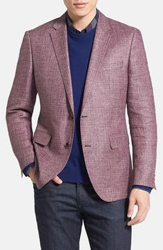 BOSS HUGO BOSS 'The Keys' Trim Fit Linen Blend Sportcoat
