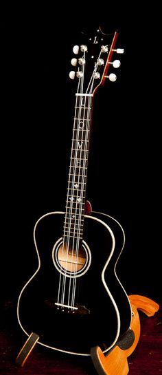 """Custom Six String Tenor Ukulele crafted by NC luthier Jay Lichty, """"LOVE"""" inlay for Valentine's"""