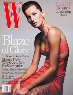 <em>W</em> Magazine's Supermodel Cover Girls - Gisele Bundchen on the cover of W Magazine January 2004