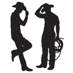 Cowboy Silhouettes 2ct