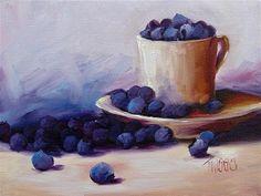 """Blueberry Spill"" - Original Fine Art for Sale - © Lori Twiggs"