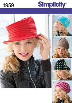 Accessory & Bag Patterns - Simplicity Misses Fleece Hats Pattern