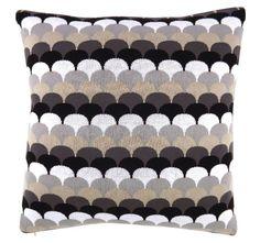 Shell Knit 50x50cm Filled Cushion Black | Manchester Warehouse Warehouse, Manchester, Shells, Quilts, Blanket, Knitting, Conch Shells, Tricot, Clams