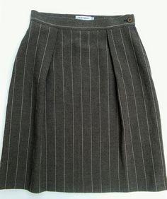 Giorgio Armani Le Collezioni Brown Wool Blend Skirt Italy IT 42 US 8  #GiorgioArmani #StraightPencil