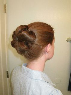 Pin curl bun; decent bun -> great curls