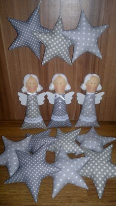 Navidad Christmas Crafts For Gifts, Christmas Sewing, Christmas Angels, Christmas Diy, Crafts To Make And Sell, Diy And Crafts, Stall Decorations, Diy Angels, Felt Crafts Patterns