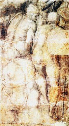 Michelangelo Buonarroti, Gruppo di armigeri, c. 1546, Museo nazionale di Capodimonte, Napoli