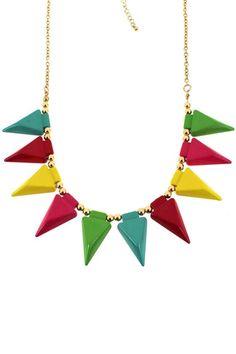 ROMWE | Linked Spearhead Pendant Necklace, The Latest Street Fashion #ROMWE