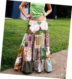 Hippy clothes! Love this skirt