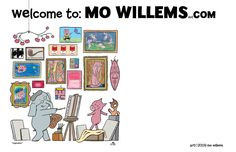 Stop the car! Caldecott-winning and kid's book author extraordinaire, Mo Willems, has a BLOG and Twitter account AND a shop!