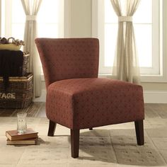 Vicky Crimson Accent Chair