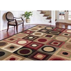 Bliss Rugs Preston Contemporary Area Rug, Multicolor