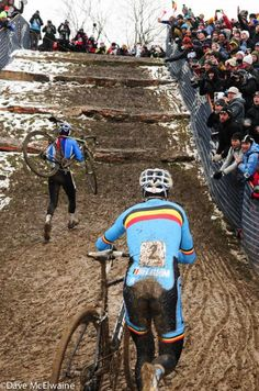 Jaysus - that's hard. Kevin Pauwels at the limestone steps at the Worlds