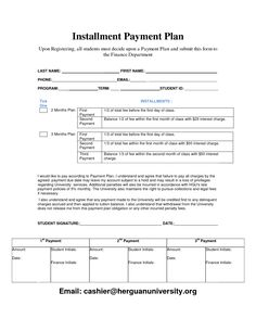 free payment plan template