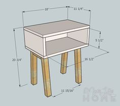 Simple Modern Nightstand by More Like Home - diy furniture plans Farm House Living Room, Diy Nightstand, Diy Furniture, Cool Rooms, Home Furniture, Furniture Plans, Home Decor, Wood Diy, Home Diy